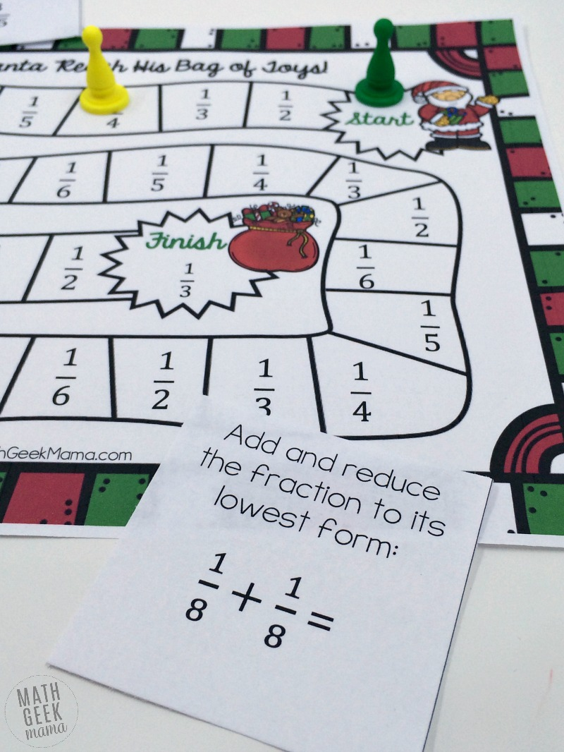photo regarding Printable Fraction Games named Xmas Themed Printable Portion Activity Cost-free