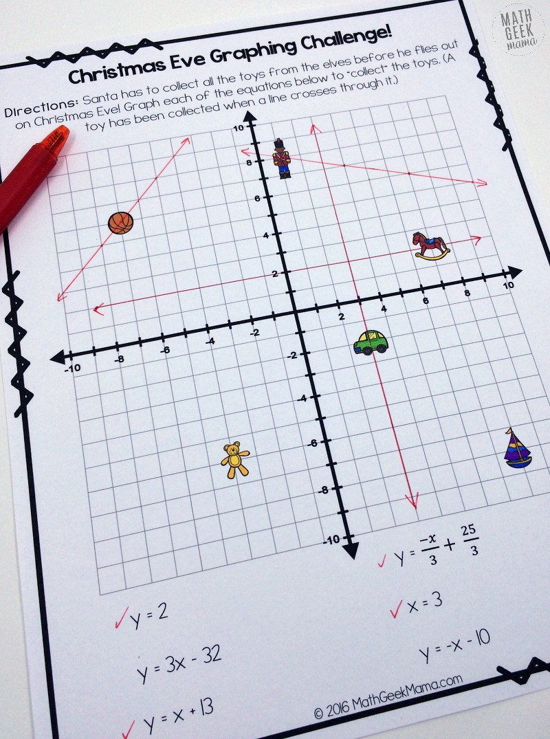 Worksheets Graphing Linear Equations Practice Worksheet christmas challenge graphing linear equations practice free looking for a fun and unique way to this december this