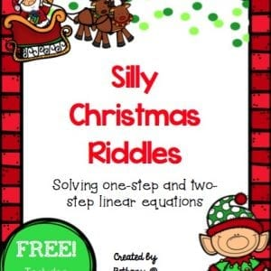 These adorable Christmas riddles are a fun way to practice solving linear equations. Includes 1 and 2-step equations as well as an answer key!