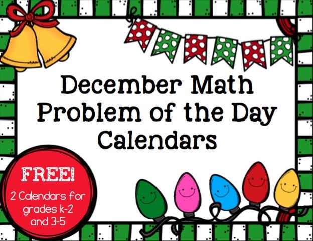 Math Calendars for December - Math Geek Mama