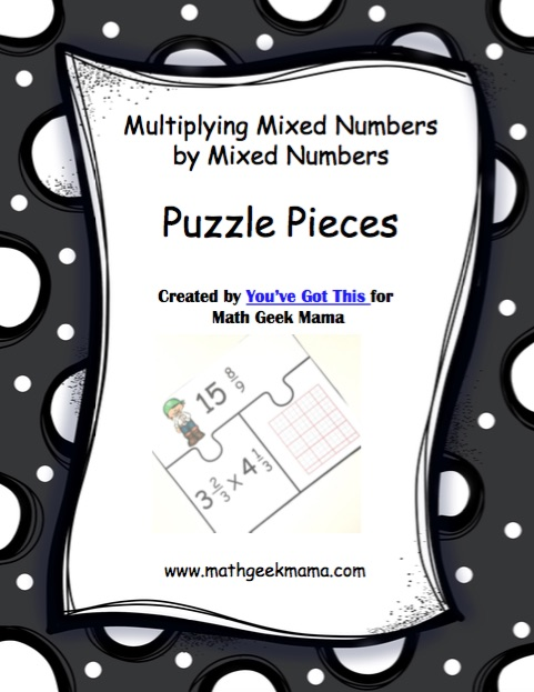 This fun and easy to use set of 10 puzzles is a great way to evaluate students' understanding! Or a fun multiplying fractions activity to use when you need extra practice. The visual model helps deepen students' understanding and the puzzles make it so much more fun than a worksheet. Click to learn more about multiplying mixed numbers.