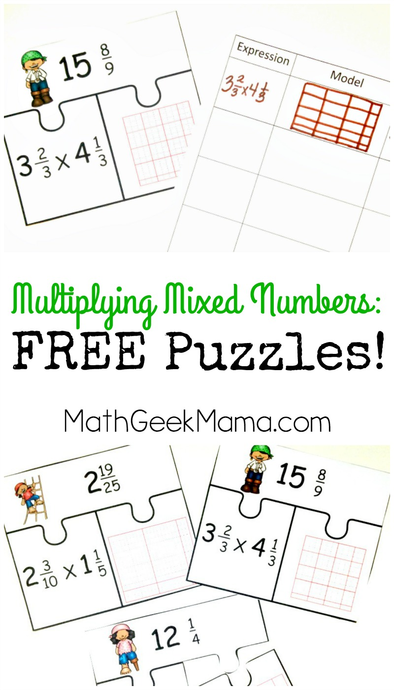 worksheet How To Multiply Mixed Numbers low prep multiplying fractions activity free mixed numbers puzzles this fun and easy to use set of 10 is a great way evaluate