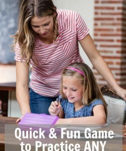 Need a fun and super simple way to practice math facts with your child? This game is easy to set up and can be played with any math skill you need to work on! This is a great way to squeeze in some some math review in a fun way. Plus, it's a game your kids are already familiar with!
