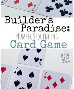 This fun and easy Kindergarten card game is a low-prep way to ppractice important math skills. Work on sorting, sequencing and counting. All you need is a deck of cards!