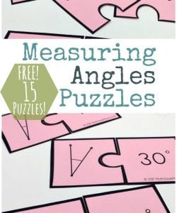 Want a fun and simple way to practice measuring angles with your 4th or 5th grader? They will love this fun set of puzzles! This measuring angles activity provides practice with a protractor and can then be used to sort and classify angles. Includes 15 FREE puzzles!