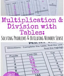 Multiplying Large Numbers with a Table: Building Number Sense