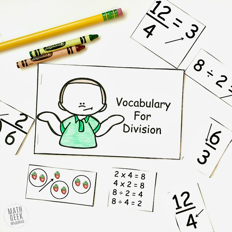 Do your students struggle with all the math specific vocabulary terms related to division? It's a mouthful! This fun, interactive division vocabulary booklet will help kids learn the terms, and give them a handy reference to go back to later.