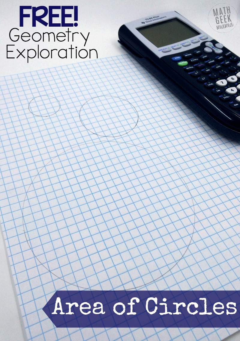 Help your students understand the area formula and explore circles with this fun, hands-on area of a circle activity! This is a great way to make a boring formula more engaging, and use a graphing calculator as an aid, rather than a crutch. Get if free today!