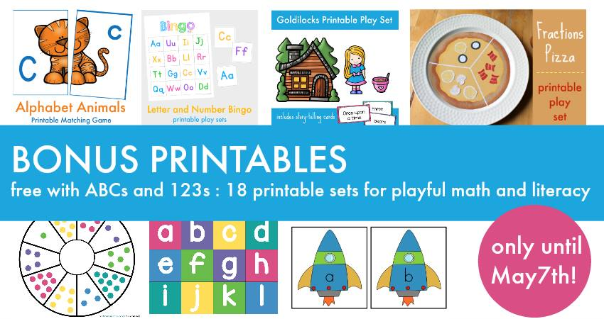 Bonus Printables 123s ABCs ebook