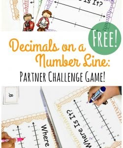 Decimals on a Number Line Game that Kids LOVE!