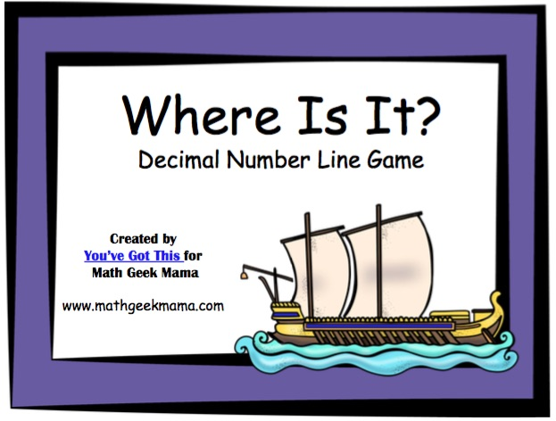 Practicing reading, ordering and comparing decimals? Grab this FREE Decimals on a Number Line Game! Similar to battleship, this will give kids practice with decimals in a fun, engaging way!