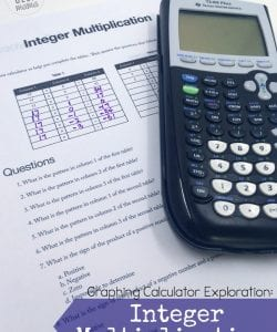 Teaching Integer Multiplication {FREE Graphing Calculator Activity}