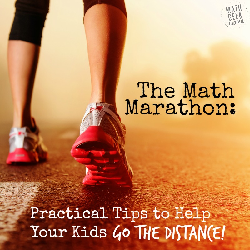 Worried your kids or students aren't adequately developing mathematical thinking skills? Learning math in a deep, meaningful way is a marathon, not a sprint. Read the full post for ideas and practical tips to help your kids go the distance!