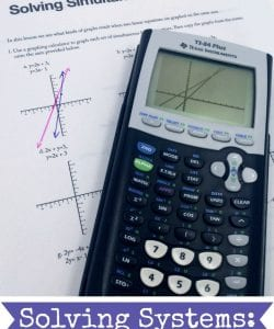 Incorporate technology into your math classroom, and help kids make sense of systems of linear equations! This simple lesson will help kids see the connection between the equations and the graph, and then understand the solution to the system.