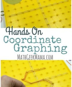 Simple, Hands On Coordinate Graphing Worksheet