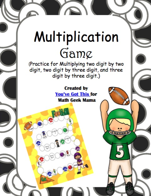 graphic about Printable Large Numbers identified as Multiplying Superior Quantities Printable Video game - Math Geek Mama
