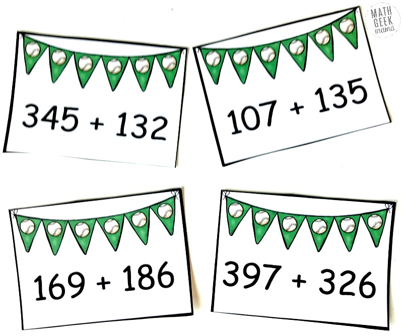 math worksheet : free baseball addition 3 digit addition game : 3 Digit Addition Games
