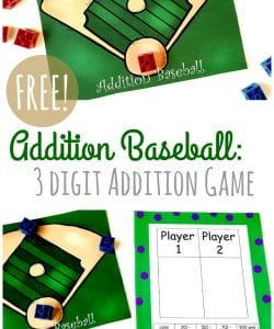 {FREE} Baseball Addition: 3-Digit Addition Game
