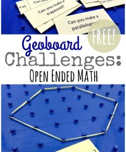 Geoboard Activity Cards {FREE Geometry Challenge}