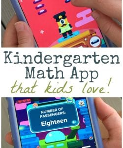 Fun and Engaging Kindergarten Math App {CCSS Aligned}