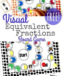 Visual Equivalent Fractions Game Printable {FREE}