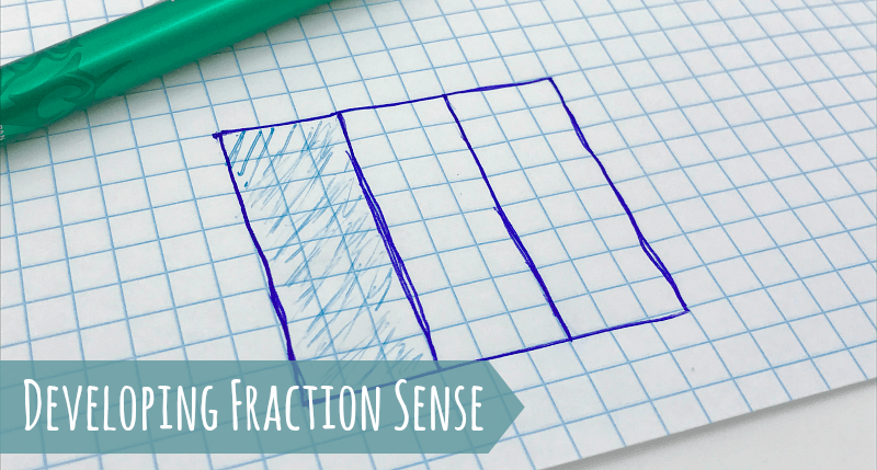"""Help your kids make sense of fractions using area models! This provides such a helpful visual so kids can really """"see"""" the concepts. Learn more in this helpful post!"""