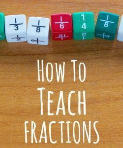 Overwhelmed at the thought of teaching fractions? This post breaks it down into easy to follow steps with super simple game ideas.