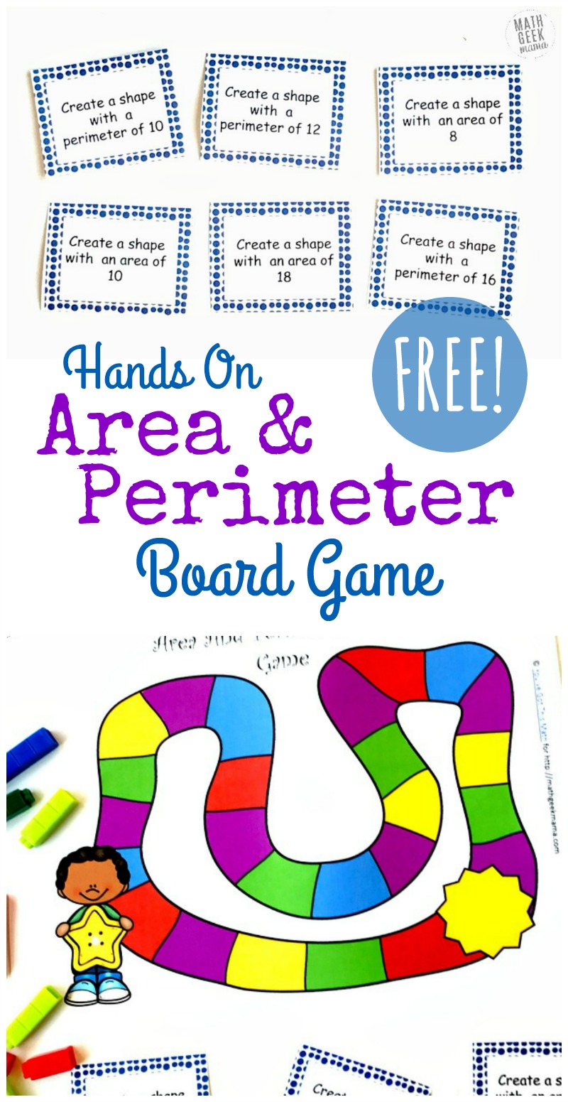 Looking for a new and engaging way to explore area and perimeter? Grab this FREE printable area and perimeter game to give your kids some fun, yet challenging hands on practice! All you need are some cuisinaire rods and you're ready to play.
