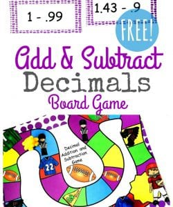 {FREE} Adding & Subtracting Decimals Game for Grades 4-6