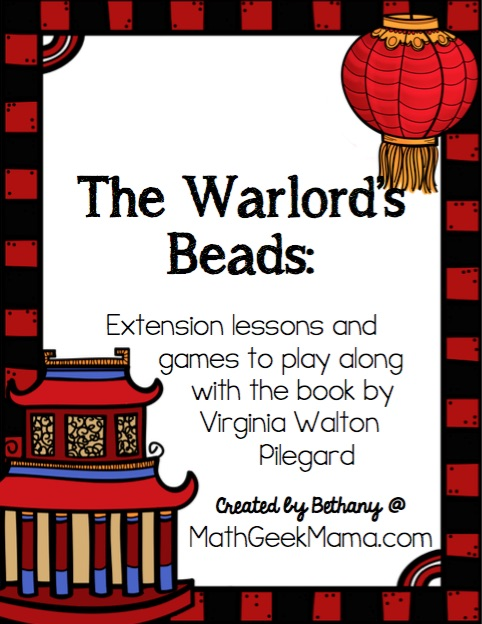 "These fun and low prep learning activities are a great way to extend the learning with the book, ""The Warlord's Beads."" Teach kids about place value and large numbers and ancient China with this cute math storybook."