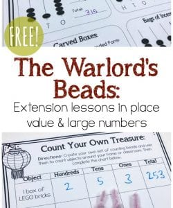 The Warlord's Beads Extension Lessons {FREE Printable}
