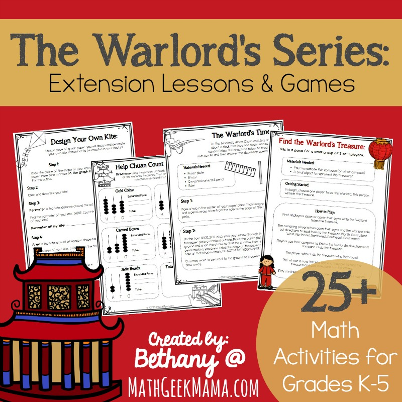 Extend the learning with this fun set of math storybooks using these extension lessons. The Warlord's Series is a great set of books to teach kids important math concepts and learn about ancient China.