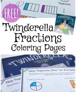 Low Prep Fraction Coloring Pages with Twinderella {FREE}