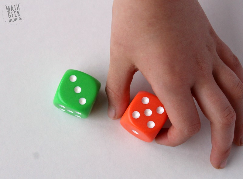 Looking for a new, but super easy and low prep way to practice math facts with your kids? Grab a set of dice and you're ready to play! Playing math dice games can help kids practice in a way that is fun, and less intimidating. Learn 6 different variations in this post!