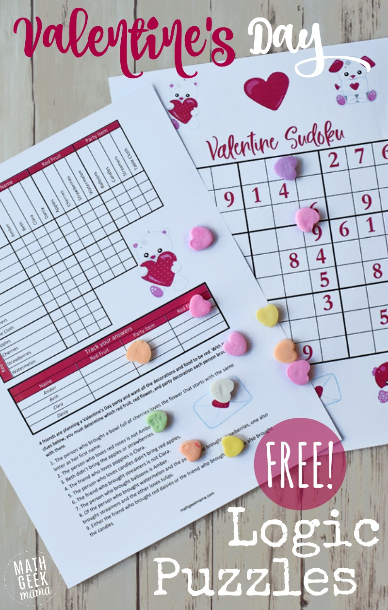 This adorable set of Valentine's Day logic puzzles is the perfect break from your normal math routine. Help kids develop their logical and critical thinking skills with this unique challenge!
