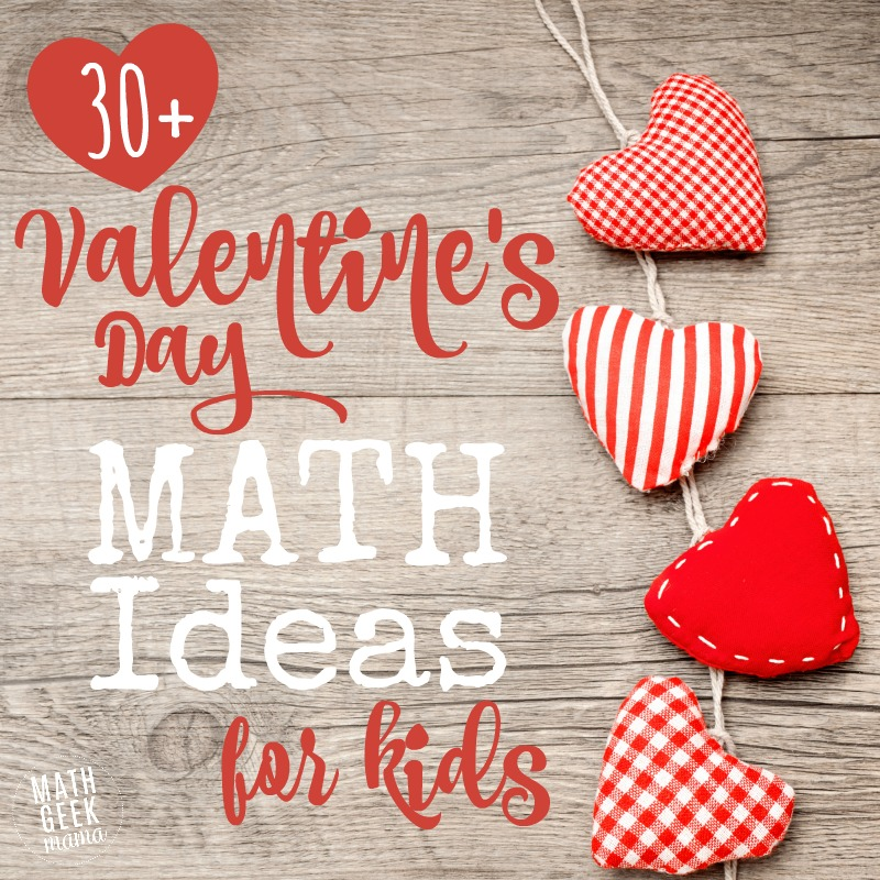 Looking for a fun mathy way to celebrate Valentine's Day? This HUGE list includes hands on Valentine's Day Math Activities, Valentine's Day STEM challenges, printable Valentine's Day math worksheets and activities for kids of all ages!