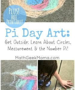 Simple Pi Day Art Project {Free Printable!}