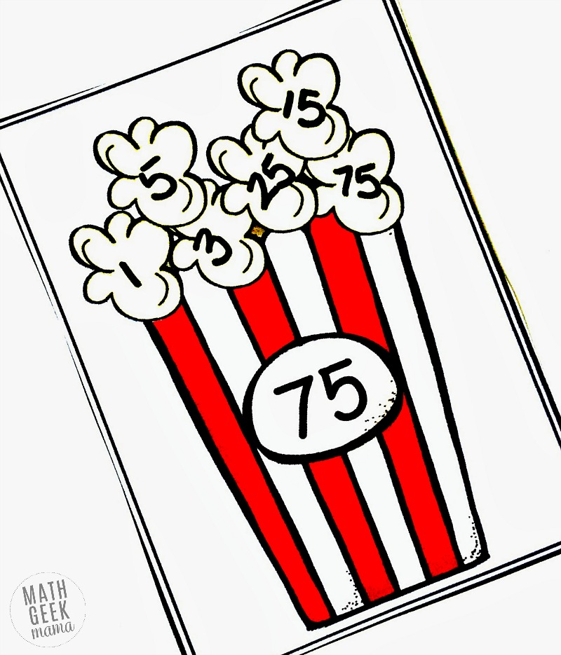 Looking for a quick and easy way for your kids to practice factoring? This popcorn factoring practice is perfect and adorable! Grab it free for independent practice or a math center.