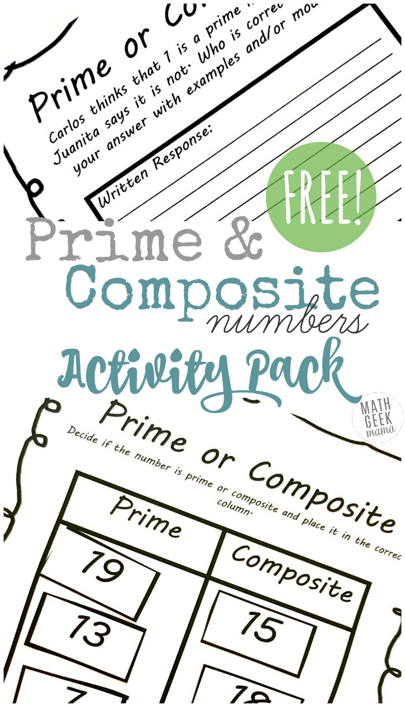 worksheet Odd Even Prime And Composite Numbers Worksheet prime and composite numbers worksheets free activity pack are you introducing your kids to this interactive lesson includes