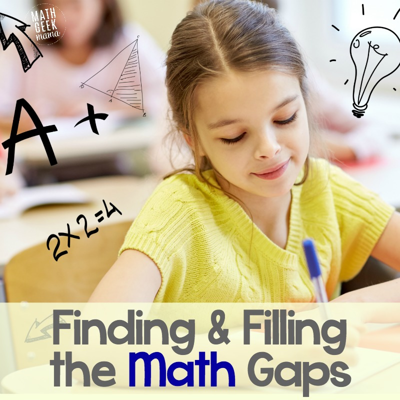 Worried your kids have gaps in their math learning that will hinder their future success? This post covers everything you need to know to find and fill math gaps.