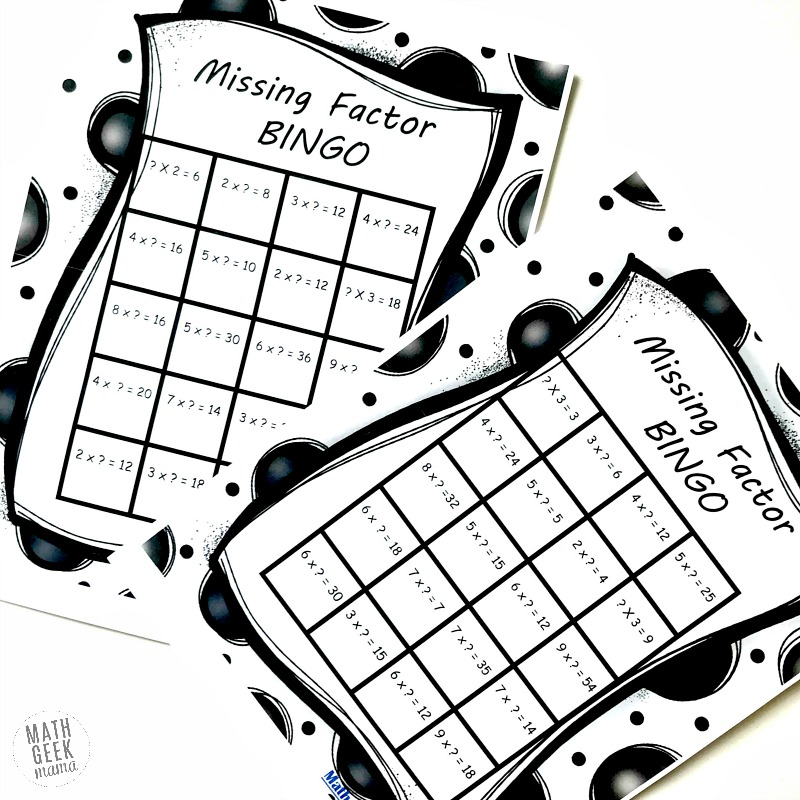 picture regarding Factor Game Printable known as Cost-free Dropped Issue BINGO Video game: Enjoyable Multiplication Problem!