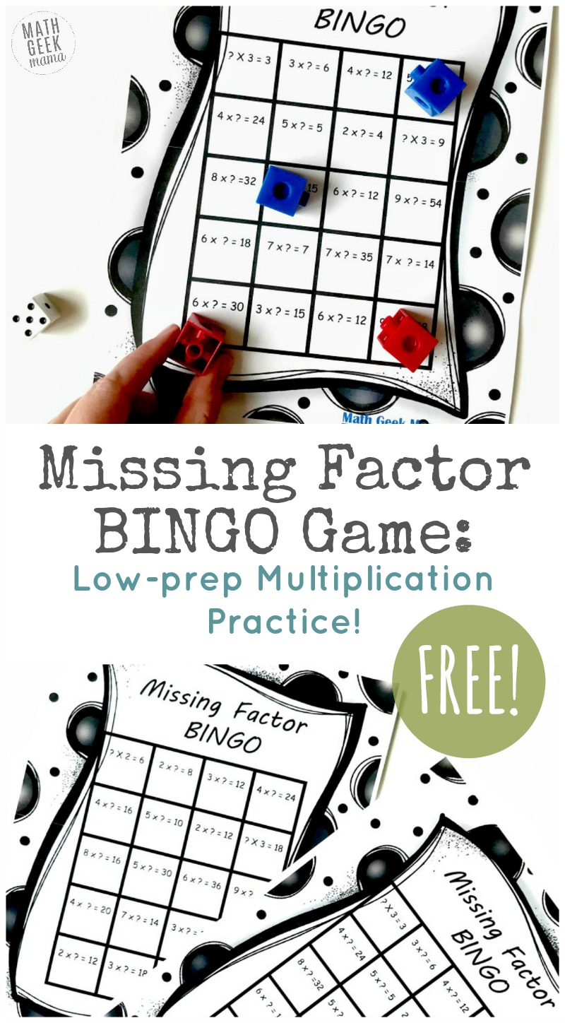 photo about Multiplication Bingo Printable named Free of charge Lost Element BINGO Sport: Pleasurable Multiplication Issue!