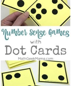 Number Sense Activities with Visual Dot Cards {Grades PreK-1}