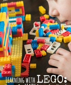 Want to learn how to teach and explore math with LEGO bricks? In this post you will find dozens of games, ideas and printables to explore math with LEGO. Includes ideas for kids of all ages!