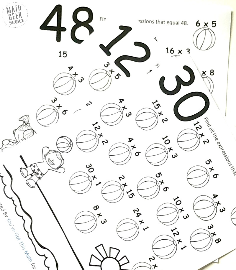multiplication easy coloring pages - photo#27