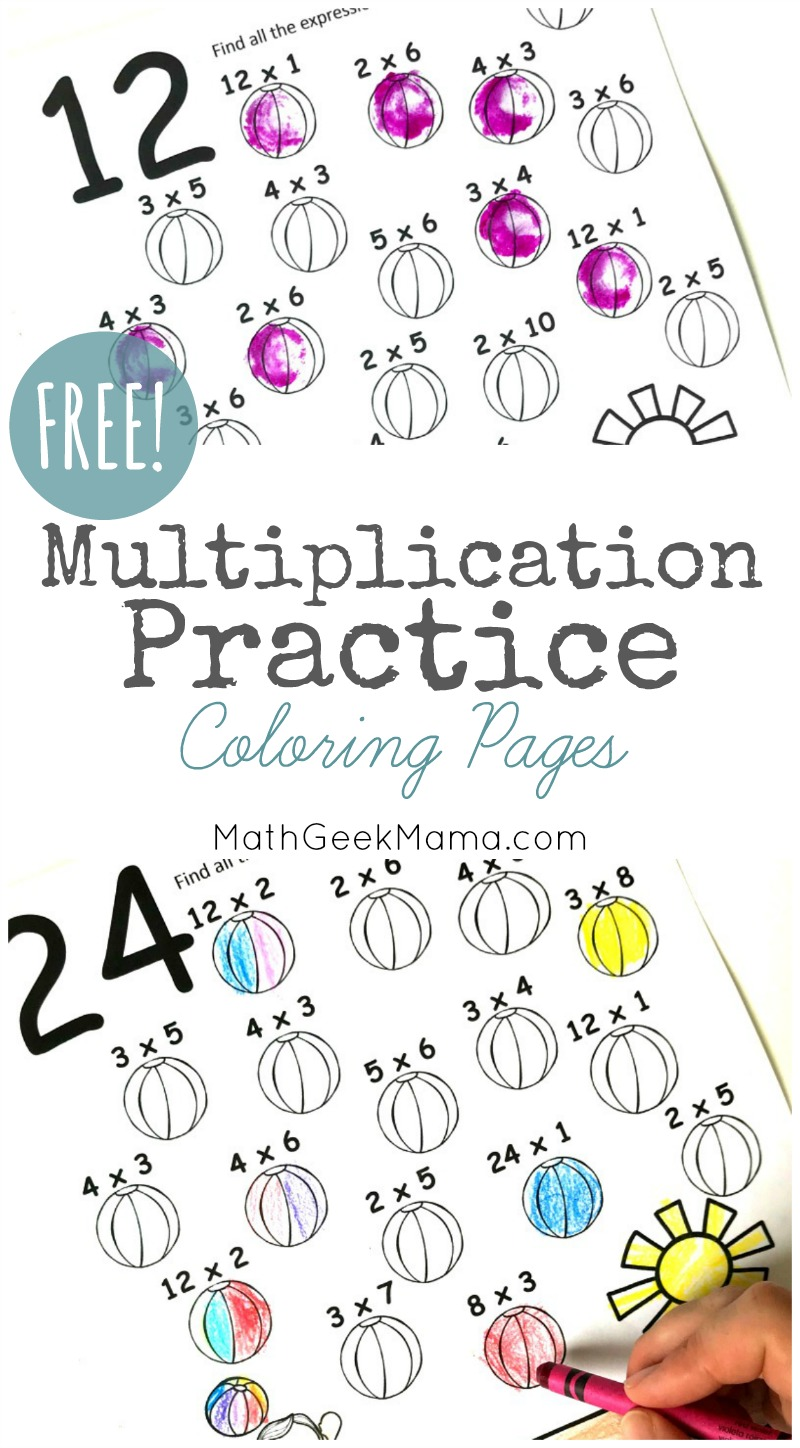 Need a quick and easy way to review multiplication facts? These low prep multiplication coloring pages are a great way to learn and practice skills. Plus, these will help kids find factors and see the commutative property of multiplication! Get them free!