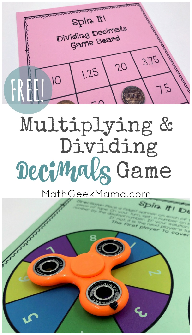 FREE} Multiplying Decimals Game for Kids with Multiple Variations