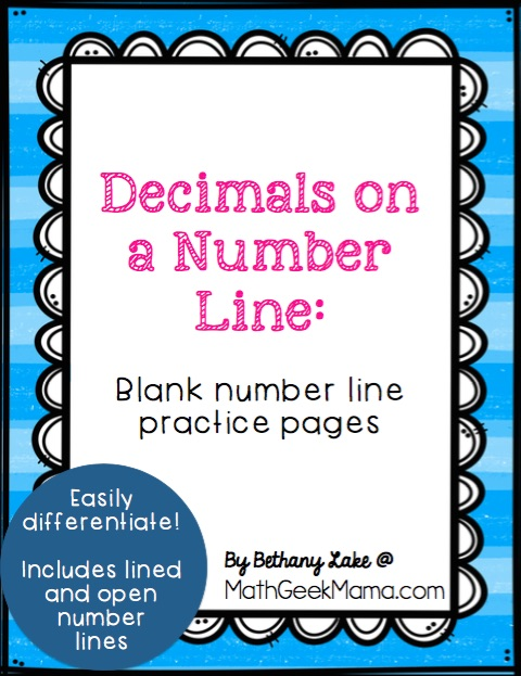 Want to give your kids another strategy and visual model for adding and subtracting decimals? This post breaks down how to add & subtract decimals on a number line, plus it includes FREE blank number line pages! These pages allow you to differentiate for different kids and types of problems. Learn more in the full post from Math Geek Mama!