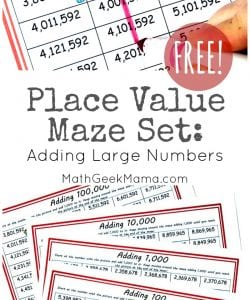 {FREE} Low Prep Place Value Mazes for Grades 3-5