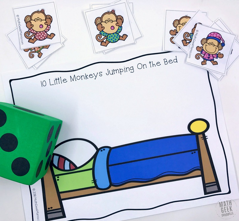 Free Ten Little Monkeys Jumping On The Bed Math Game For All Ages